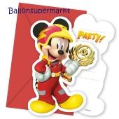 Micky Maus Roadster Racers Einladungskarten zum Kindergeburtstag
