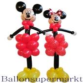 Micky und Mini Maus riesengroß, Ballondeko, Ballonfiguren aus Luftballons, Mickey und Minnie von Disney