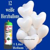 Mini-Ballons-Helium-Set-Hochzeit-weisse-Herzluftballons-1-Liter-Ballongas