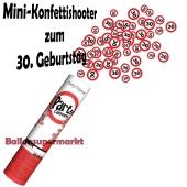 Mini-Konfettikanone Verkehrsschild 30