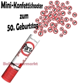 Mini-Konfettikanone Verkehrsschild 50