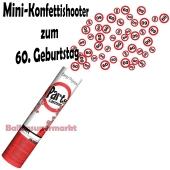 Mini-Konfettikanone Verkehrsschild 60