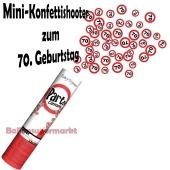 Mini-Konfettikanone Verkehrsschild 70