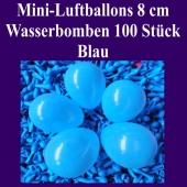 "Mini Luftballons, 8 cm, 3"", Wasserbomben, 100 Stück, Blau"