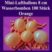 "Mini Luftballons, 8 cm, 3"", Wasserbomben, 100 Stück, Orange"