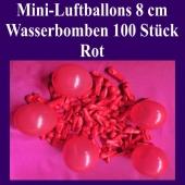 """Mini Luftballons, 8 cm, 3"""", Wasserbomben, 100 Stück, Rot"""