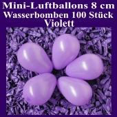 "Mini Luftballons, 8 cm, 3"", Wasserbomben, 100 Stück, Violett"