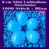 "Mini Luftballons, 8 cm, 3"", Wasserbomben, 1000 Stück, Blau"