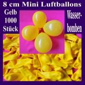 """Mini Luftballons, 8 cm, 3"""", Wasserbomben, 1000 Stück, Gelb"""