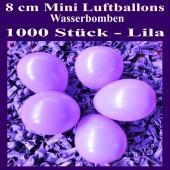 "Mini Luftballons, 8 cm, 3"", Wasserbomben, 1000 Stück, Lila"