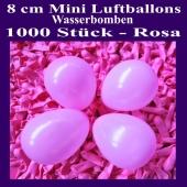 """Mini Luftballons, 8 cm, 3"""", Wasserbomben, 1000 Stück, Rosa"""