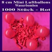 """Mini Luftballons, 8 cm, 3"""", Wasserbomben, 1000 Stück, Rot"""