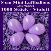 "Mini Luftballons, 8 cm, 3"", Wasserbomben, 1000 Stück, Violett"