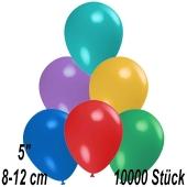 Luftballons 12 cm, Bunt gemischt, 10000 Stück