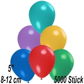 Luftballons 12 cm, Bunt gemischt, 5000 Stück