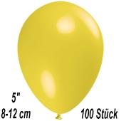 Luftballons 12 cm, Gelb, 100 Stück