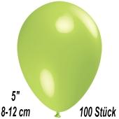 Luftballons 12 cm, Limonengrün, 100 Stück