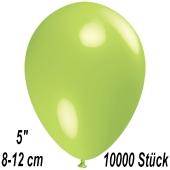 Luftballons 12 cm, Limonengrün, 10000 Stück