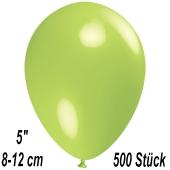 Luftballons 12 cm, Limonengrün, 500 Stück