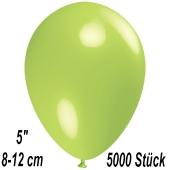 Luftballons 12 cm, Limonengrün, 5000 Stück