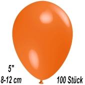 Luftballons 12 cm, Orange, 100 Stück