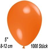 Luftballons 12 cm, Orange, 1000 Stück