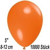 Luftballons 12 cm, Orange, 10000 Stück
