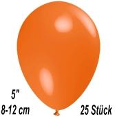Luftballons 12 cm, Orange, 25 Stück