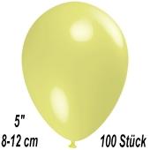 Luftballons 12 cm, Pastellgelb, 100 Stück