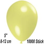 Luftballons 12 cm, Pastellgelb, 10000 Stück