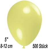 Luftballons 12 cm, Pastellgelb, 500 Stück