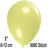 Luftballons 12 cm, Pastellgelb, 5000 Stück