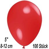 Luftballons 12 cm, Rot, 100 Stück