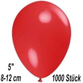 Luftballons 12 cm, Rot, 1000 Stück