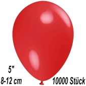 Luftballons 12 cm, Rot, 10000 Stück