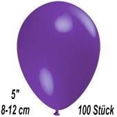 Luftballons 12 cm, Violett, 100 Stück