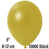 Kleine Metallic Luftballons, 8-12 cm, Champagnergold, 10000 Stück