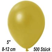 Kleine Metallic Luftballons, 8-12 cm, Champagnergold, 500 Stück