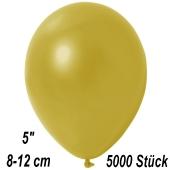 Kleine Metallic Luftballons, 8-12 cm, Champagnergold, 5000 Stück