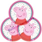 Mini-Partyteller Peppa Pig zum Peppa Wutz Kindergeburtstag