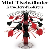 Mini-Tischständer Casino Party, Karo, Herz, Pik, Kreuz
