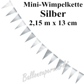 Mini-Wimpelkette, silber, 2,15 m
