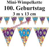 Mini-Wimpelkette Zahl 100 zum 100. Geburtstag