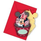 Minnie Maus Café Einladungskarten zum Kindergeburtstag