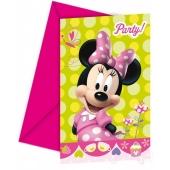 Minnie Maus Einladungskarten zum Kindergeburtstag