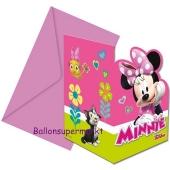 Minnie Maus Happy Helpers Einladungskarten zum Kindergeburtstag