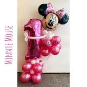 Ballon-Deko zum 1. Geburtstag Minnie Mouse