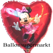 Minnie Maus Dancing Luftballon aus Folie inklusive Helium