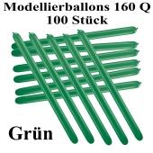 Modellierballons, 160 Q, Qualatex, 100 Stück, Grünj