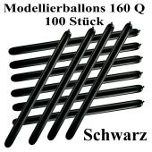 Modellierballons, 160 Q, Qualatex, 100 Stück, Schwarz
